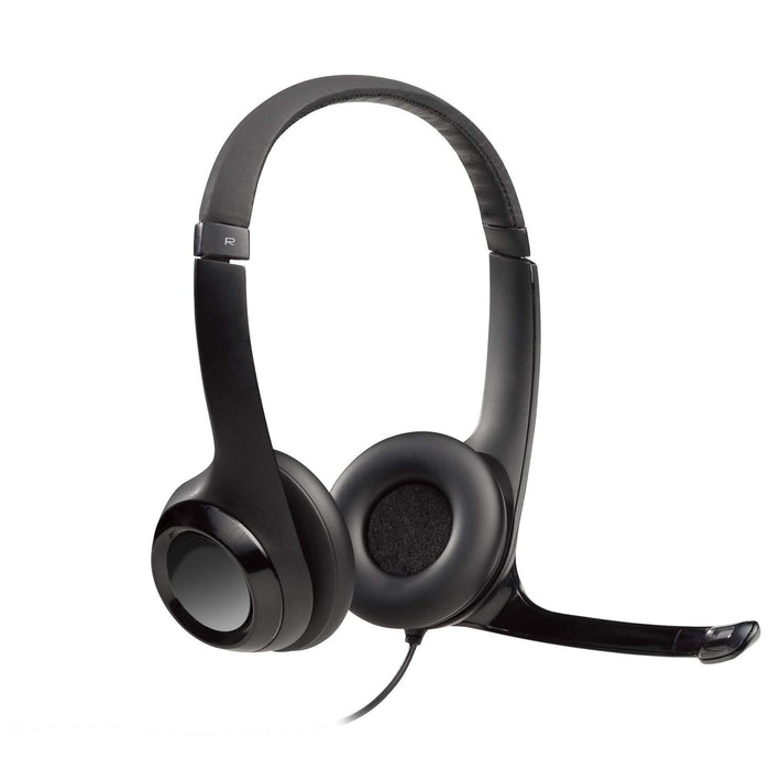 Logitech H390 Wired ClearChat Comfort USB Headset, Black (981-000014)