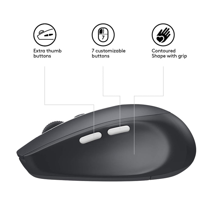 Logitech M585 Multi-Device Wireless Mouse – Control and Move  Text/Images/Files Between 2 Windows and Apple Mac Computers and Laptops  with Bluetooth or