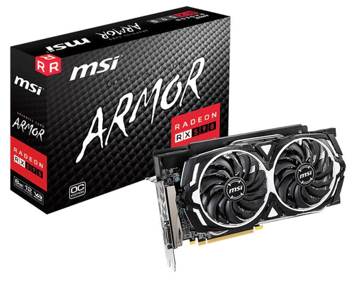 MSI Gaming Radeon Rx 590 256-Bit DP/HDMI/DVI 8GB GDRR5 HDCP Support DirectX 12 Dual Fan 2-Way Crossfire VR Ready Graphics Card (RX 590 Armor 8G OC) (R590AR8C)