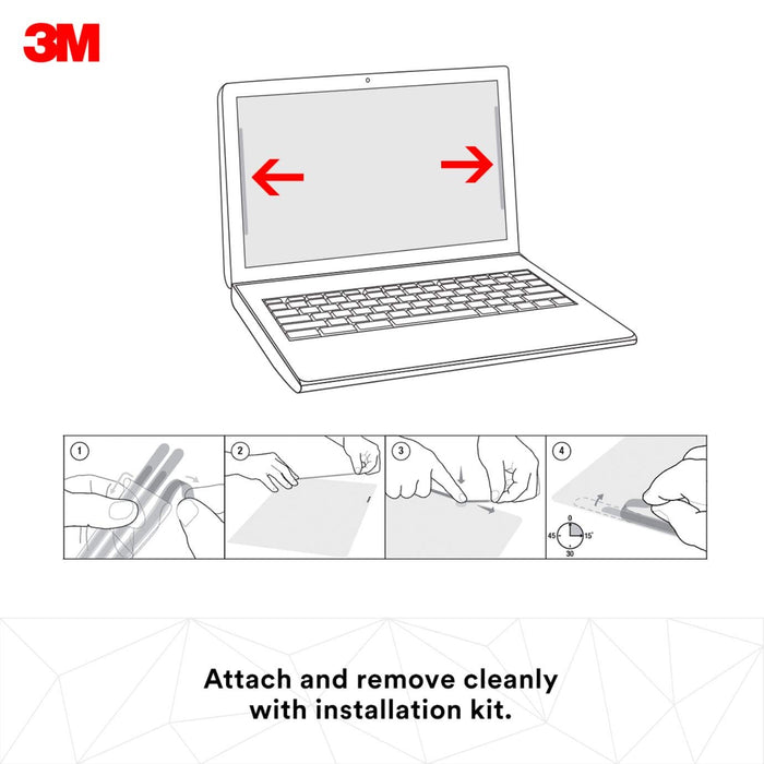 "3M Privacy Filter for 14"" Laptop - Black - Works for Lenovo X1 Carbon - Widescreen 16:9 - PF140W9B"