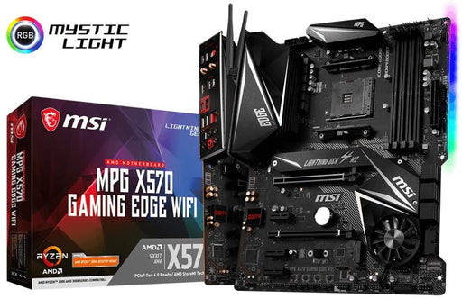 MSI Performance Gaming AMD Ryzen 2nd/3rd Gen X570 AM4 DDR4 HDMI PCIe 4 M.2 USB 3.1 CFX WiFi 6 On Board Graphics ATX Motherboard (X570EDGEWIFI)
