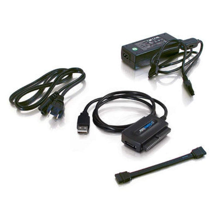 C2G 30504 Cables to Go USB 2.0 to IDE or Serial ATA Drive Adapter Cable, Black