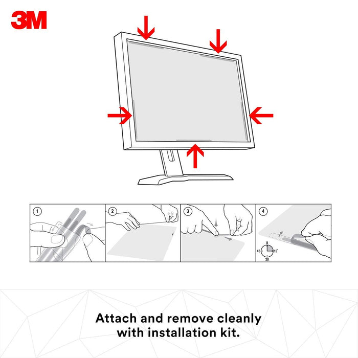 3M Computer Privacy Screen Filter for 23.6 inch Monitors - High Clarity - Widescreen 16:9 - HC236W9B