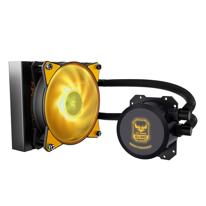 Cooler Master MLW-D12M-A20PW-RT MasterLiquid Lite ML120L TUF Edition RGB AIO CPU Liquid Cooler 120mm RGB Air Balance MF Dual Dissipation Technology by Cooler Master