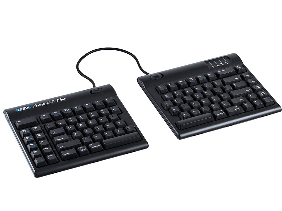 "Kinesis Freestyle2 Blue Wireless Ergonomic Keyboard for Mac (9"" Standard Separation) (KB800MB-BT)"