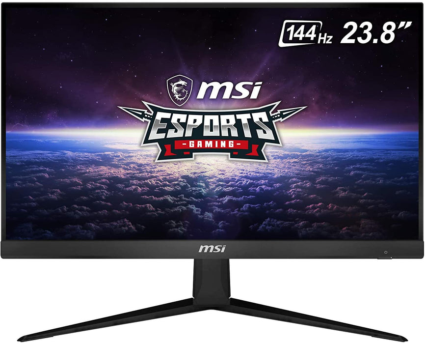 "MSI 24"" FHD (1920 x 1080) Non-Glare with Super Narrow Bezel 144Hz 1ms 16:9 HDMI/DP AMD Radeon FreeSync IPS Gaming Monitor (OPTIX G241),Black"