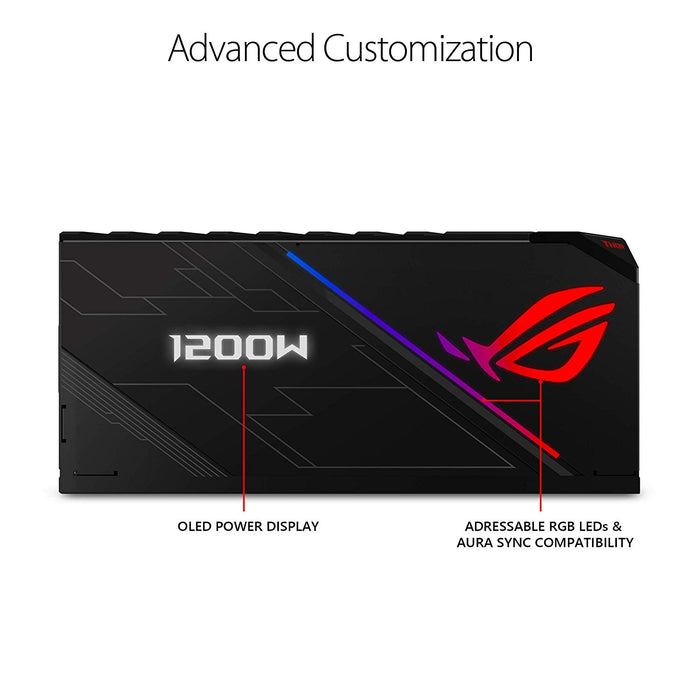 ASUS ROG Thor 1200 Certified 1200W Fully-Modular RGB Power Supply with LiveDash OLED Panel (ROG-THOR-1200P)