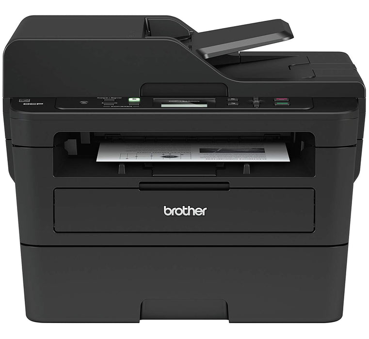 Brother DCPL2550DW Wireless Monochrome Printer with Scanner & Copier, Black