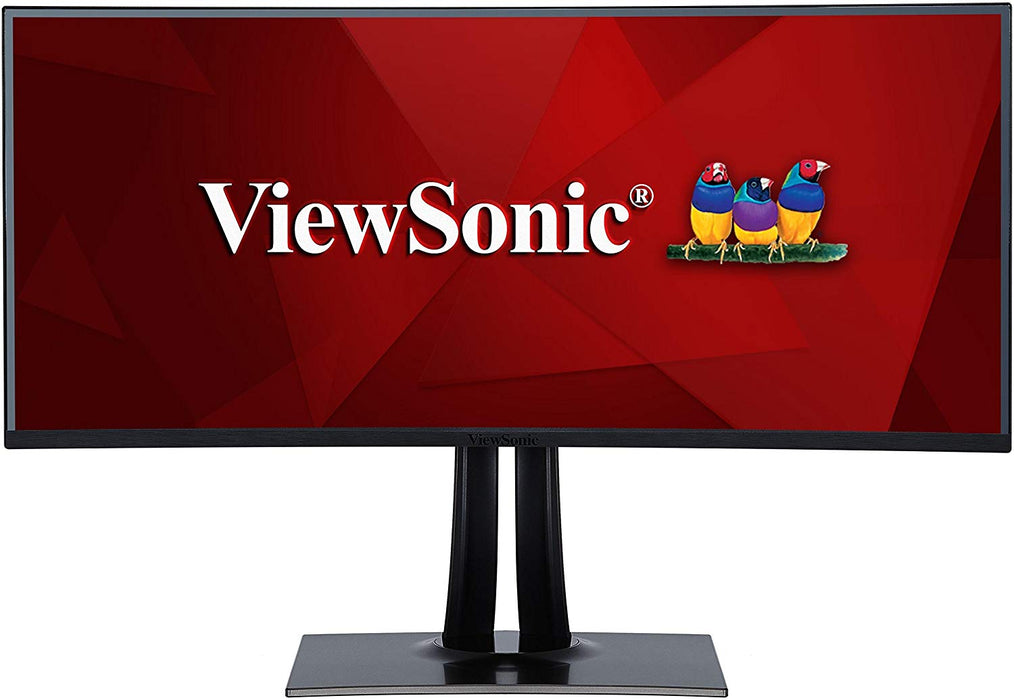 "ViewSonic VP3881 38"" PRO UltraWide Curved Monitor USB Type C 100% sRGB Rec709 HDR10 14-bit 3D LUT Color Calibration for Video and Graphics"