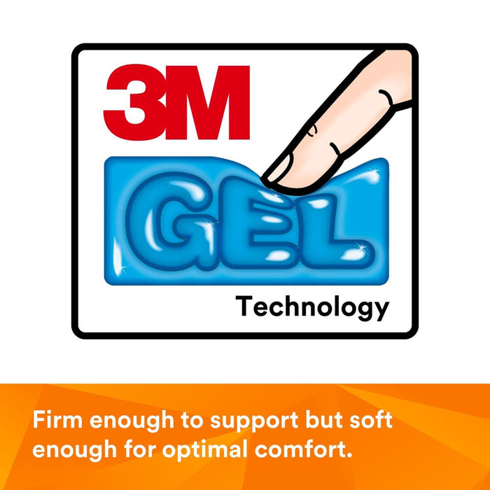3M Gel Wrist Rest with Antimicrobial Product Protect, Leatherette, Black, 2.3 in x 6.9 in x 0.75 in, WR305LE