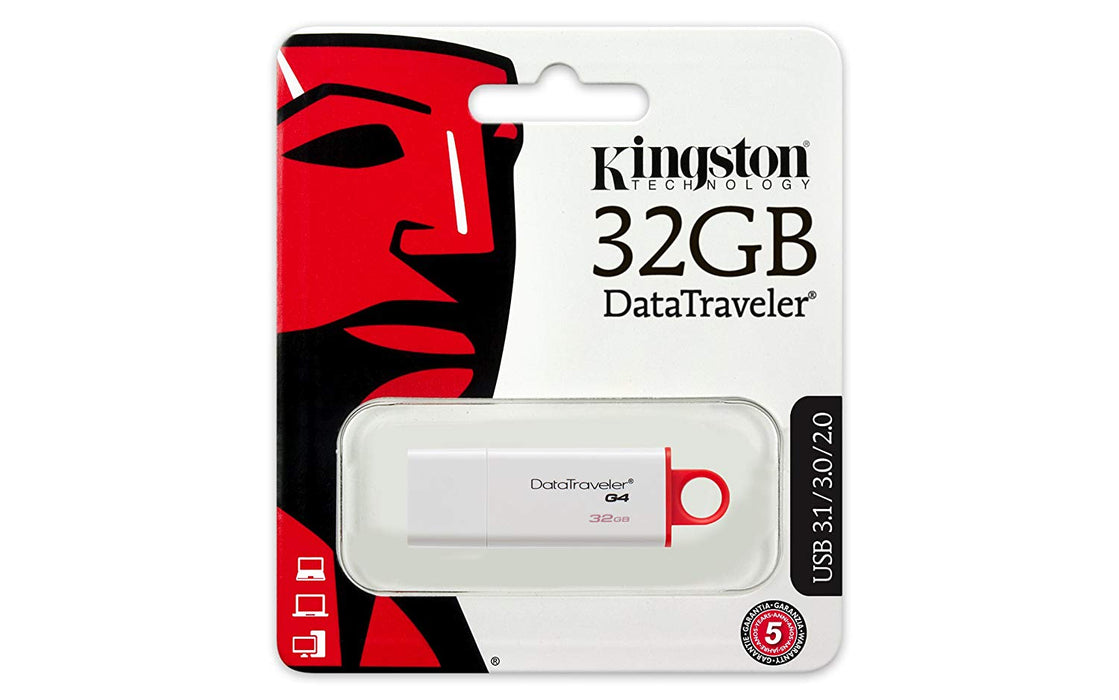 Kingston Digital 32GB Data Traveler 3.0 USB Flash Drive - Red (DTIG4/32GB )