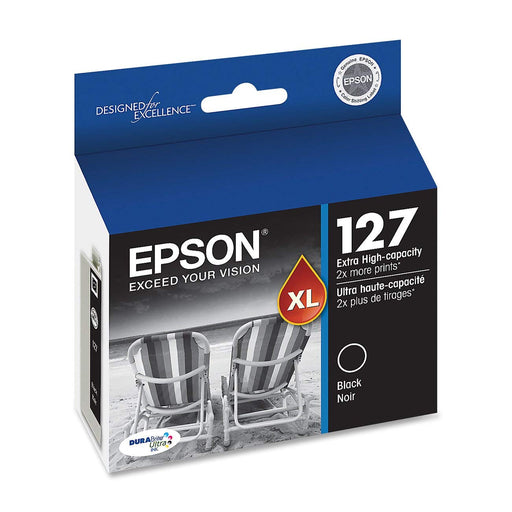 2 Pack - Epson 127 DURABrite Ultra Extra High-Capacity Ink Cartridge, Black T127120 (T127120-K2)