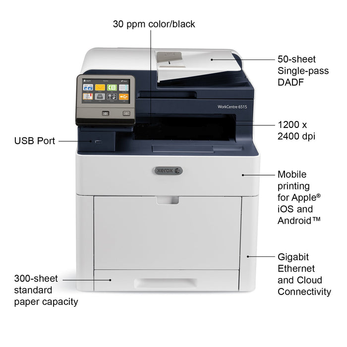 Xerox WorkCentre 6515/DN Color MultiFunction Printer