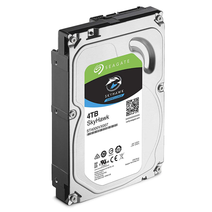 Seagate SkyHawk 4TB Surveillance Internal Hard Drive HDD – 3.5 Inch SATA 6GB/s 64MB Cache for DVR NVR Security Camera System with Drive Health Management – Frustration Free Packaging (ST4000VX007)