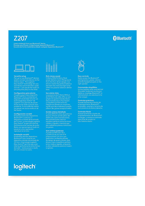 Logitech Z207 2.0 Channel Computer Speaker System with Bluetooth (980-001294)
