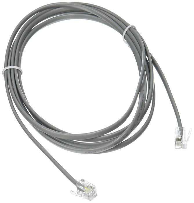 Network Cable - RJ-11 - RJ-11 - 7 feet - Silver (02971)