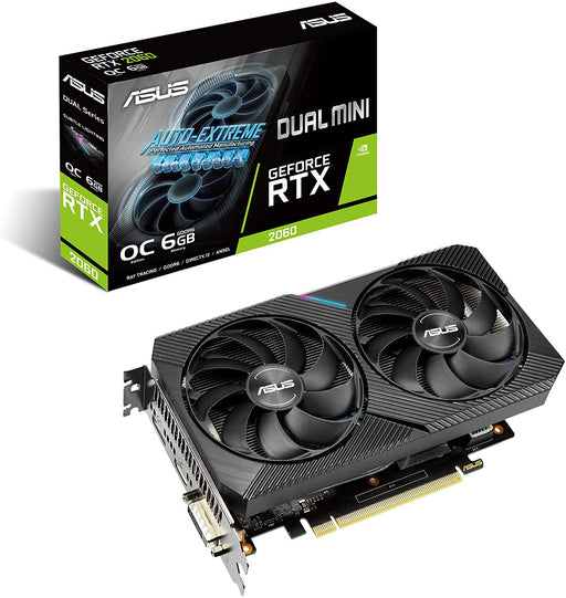 ASUS DUAL NVIDIA GeForce RTX 2060 MINI Gaming Graphics Card (PCIe 3.0, 6GB GDDR6 (DUAL-RTX2060-O6G-MINI)