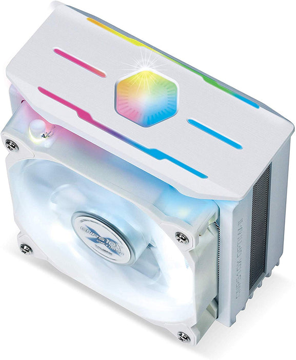ZALMAN CNPS10X Optima II White, Intel 9th Gen, AMD Ryzen Compatible, Spectrum RGB LED Lighting Effect, Dual Blade Fan