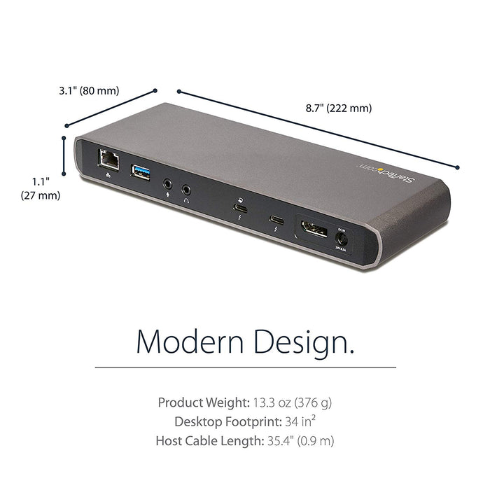 With one cable connect your Thunderbolt 3 MacBook or laptop to two 4K monitors a (TB3DKDPMAW)