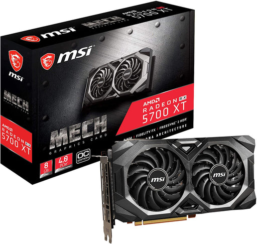MSI Gaming Radeon Rx 5700 Xt Boost Clock: 1925 MHz 256-bit 8GB GDDR6 DP/HDMI Dual Fans Crossfire Freesync Graphics Card (R5700XTMHC)