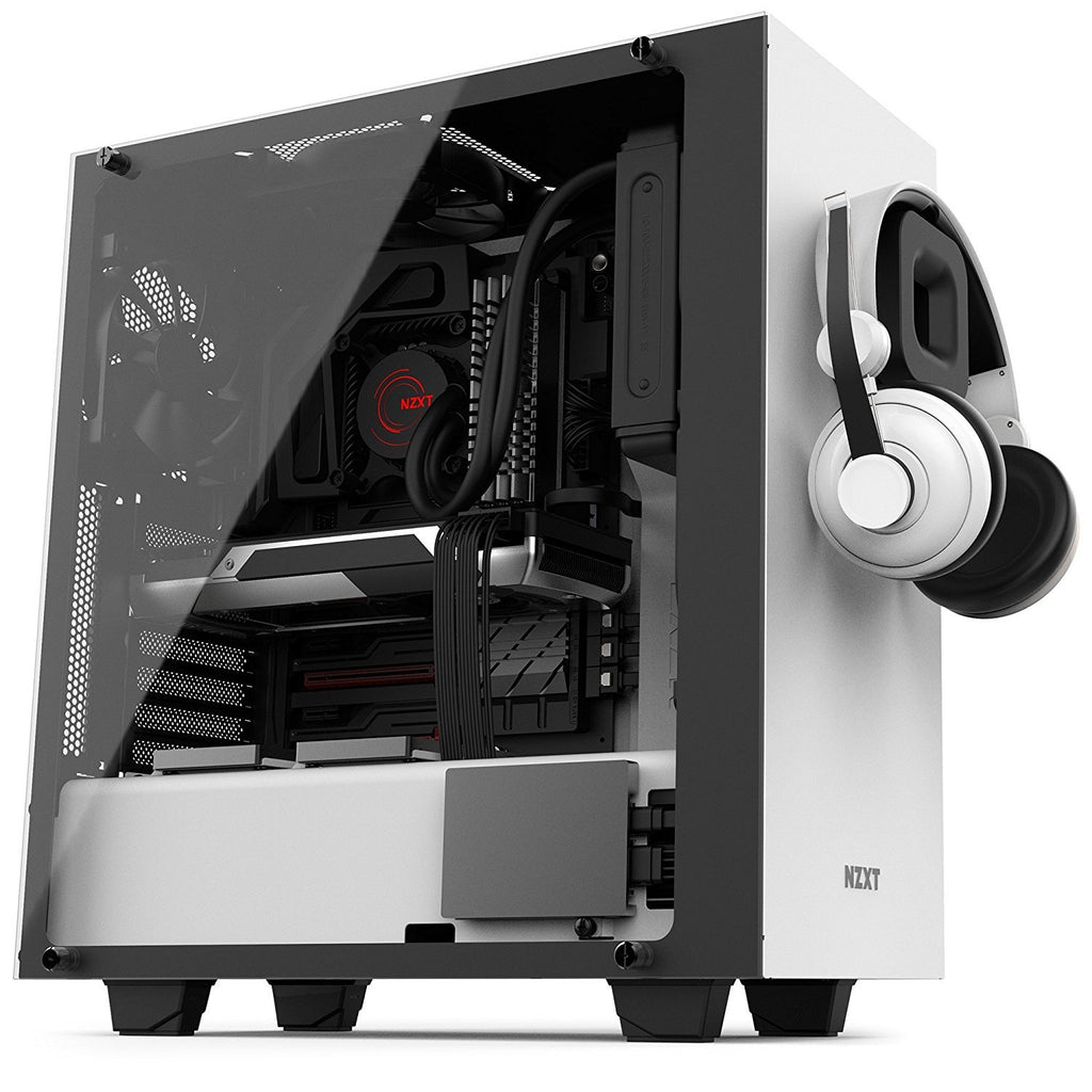 Image of NZXT S340 Elite Matte White Steel/Tempered Glass ATX Mid Tower Case