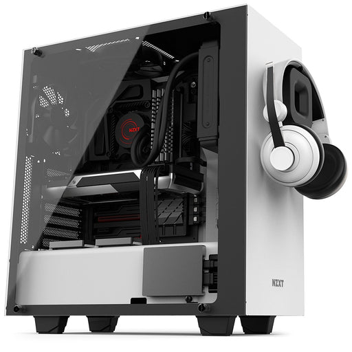 NZXT S340 Elite Matte White Steel/Tempered Glass ATX Mid Tower Case - V&L Canada