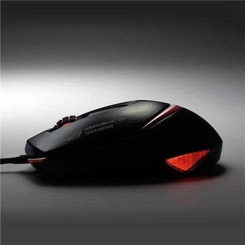 ASUS Eagle Eye GX1000 USB Laser 8200DPI Black mice (90-XB3B00MU00010-) - V&L Canada