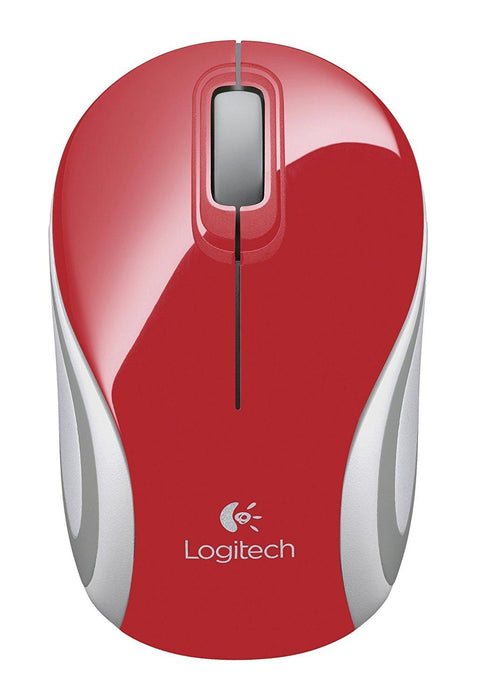 Logitech M187 RF Wireless Optical 1000DPI Ambidextrous Red mice (910-002727) - V&L Canada