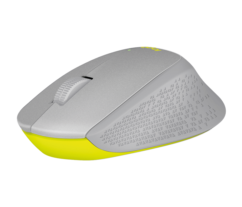 Logitech M330 Silent Plus RF Wireless Optical 1000DPI Right-hand Grey,Yellow mice (910-004908) - V&L Canada