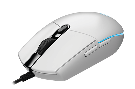 Logitech G203 Prodigy USB 6000DPI Right-hand White mice (910-005081) - V&L Canada