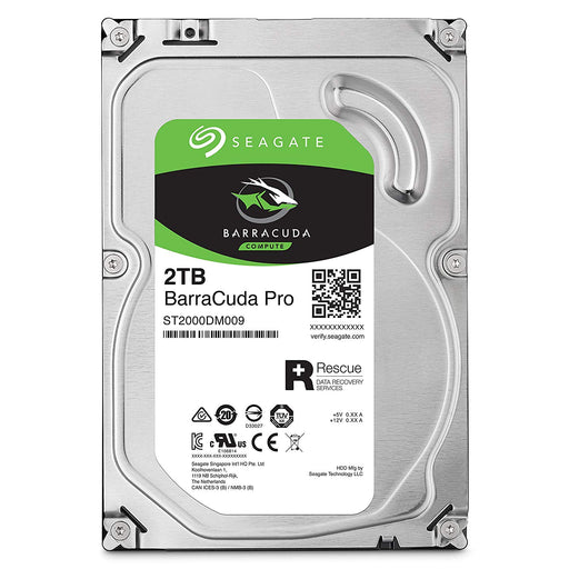 Seagate BarraCuda Pro Performance Internal Hard Drive SATA HDD 2TB 6GB/s 128MB Cache 3.5-Inch (ST2000DM009)