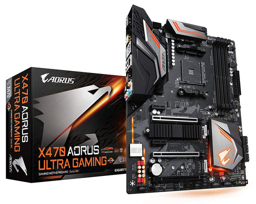 GIGABYTE X470 AORUS Ultra Gaming (AMD Ryzen AM4/ X470/ USB 3.1 Gen 2 Front Type C/ATX/ DDR4/ Motherboard)