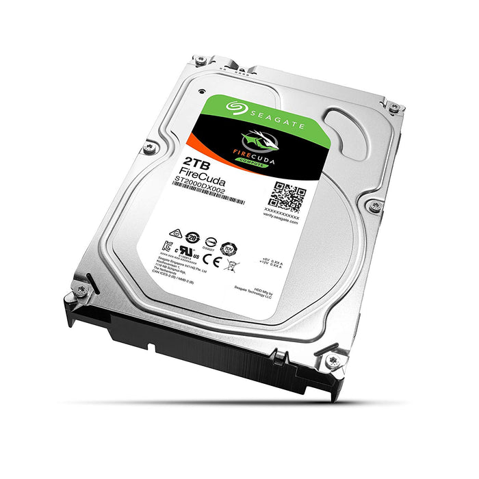 Seagate FireCuda 2TB Solid State Hybrid Drive Performance SSHD – 3.5 Inch SATA 6Gb/s Flash Accelerated 8GB Cache for Gaming PC Laptop (ST2000DX002)
