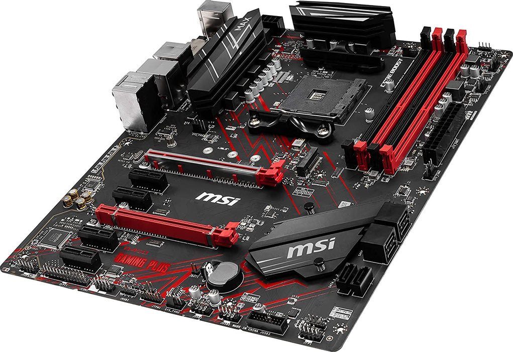 MSI Performance Gaming AMD Ryzen 2ND and 3rd Gen AM4 M.2 USB 3 DDR4 DVI HDMI Crossfire ATX Motherboard (B450 Gaming Plus Max)