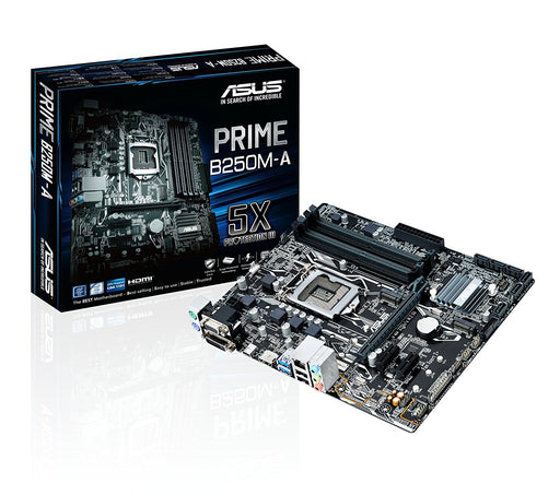 ASUS PRIME B250M-A LGA1151 DDR4 HDMI DVI VGA M.2 B250 mATX Motherboard with USB 3.1 - V&L Canada