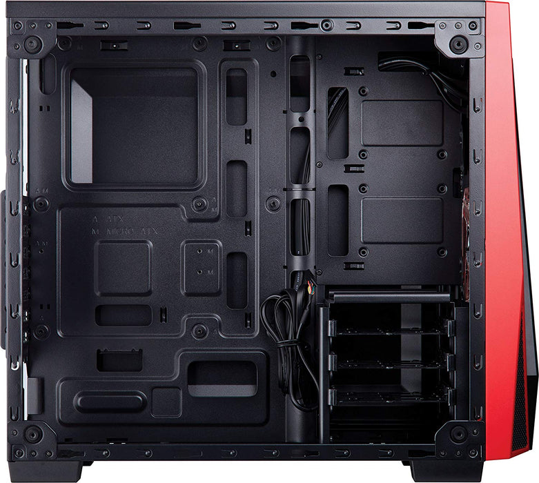 CORSAIR CARBIDE SPEC-04 Mid-Tower Gaming Case, Tempered Glass- Red - CC-9011117-WW