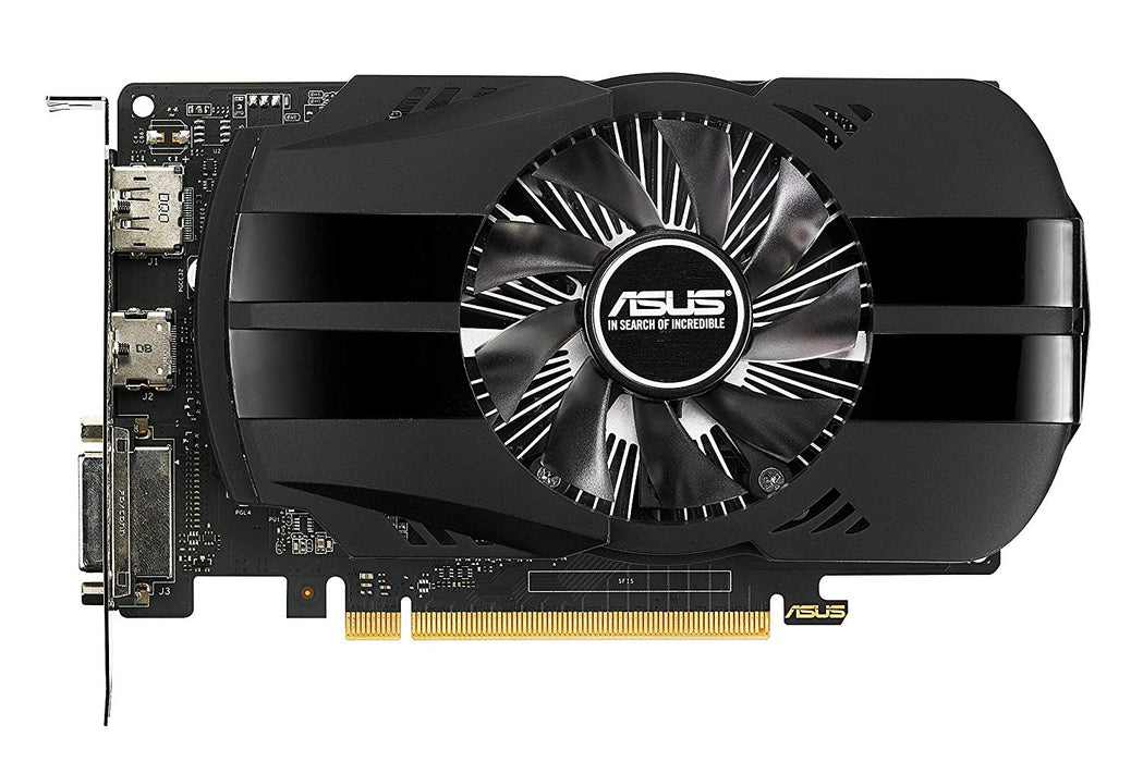 ASUS Geforce GTX 1050 Ti 4GB Phoenix Fan Edition DVI-D HDMI DP 1.4 Gaming Graphics Card (PH-GTX1050TI-4G) Graphic Cards