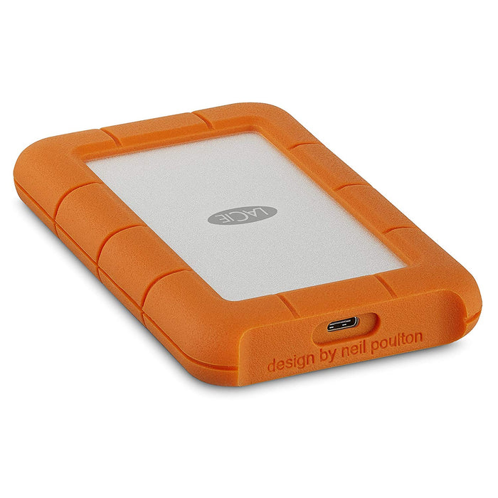 LaCie Rugged USB-C and USB 3.0 2TB Portable Hard Drive-STFR2000800