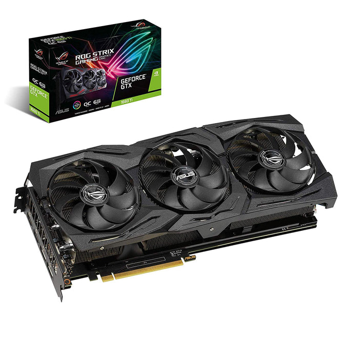 ASUS ROG Strix GeForce® GTX 1660 Ti 6GB Overclocked Edition VR Ready HDMI 2.0 DP 1.4 Auto-Extreme Graphics Card (STRIX-GTX1660TI-O6G-GAMING) (ROG-STRIX-GTX1660TI-O6G-GAMING)