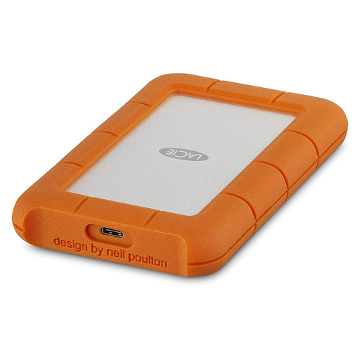 LaCie Rugged USB-C and USB 3.0 1TB Portable Hard Drive-STFR1000800