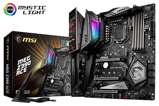 MSI MEG Z390 ACE LGA1151 (Intel 8th & 9th Gen) M.2 USB 3.1 Gen 2 DDR4 Wi-Fi SLI CFX ATX Gaming Motherboard (Z390ACE)