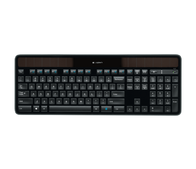 Logitech K750 RF Wireless QWERTY English Black ( French ) (920-002914)