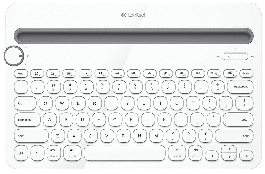 Logitech K480 Bluetooth White mobile Multi-Device keyboard (920-006343)