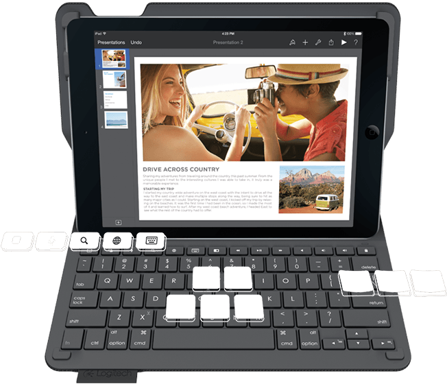 TypePlus iPad Folio KB Black (920-006912) - V&L Canada