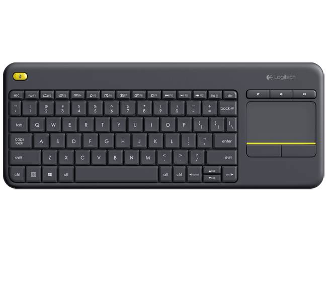 Logitech Keyboard 920-007119 Wireless Touch Keyboard K400 Plus HTPC Keyboard for PC connected TVs Retail