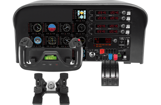 Logitech Pro Flight Yoke System Flight Sim , PC (945-000023) - V&L Canada