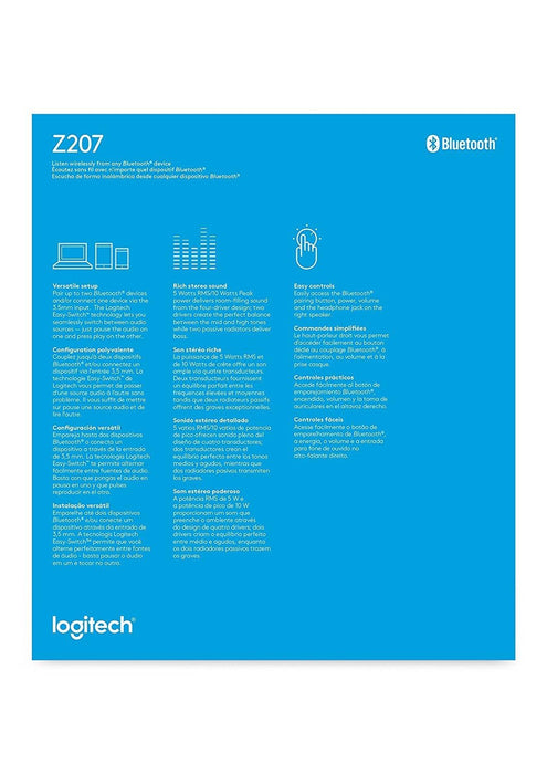 Logitech Z207 Stereo speakers with Bluetooth(blk)  2.0 Channel (980-001294) - V&L Canada