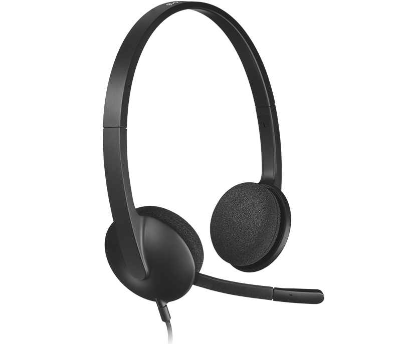 Logitech Headset 981-000507 Stereo USB Wired H340 Semi-open Black Retail