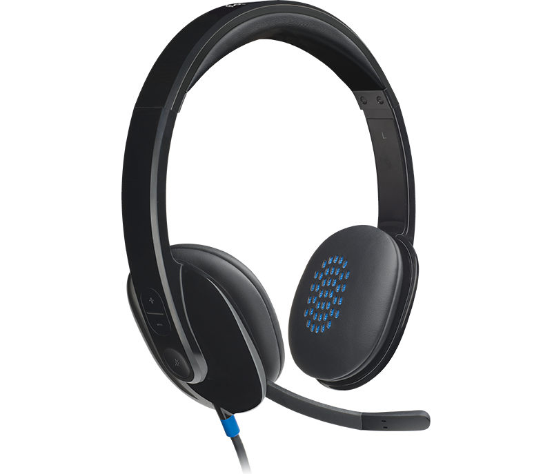 Logitech Headset 981-000510 Stereo USB Wired H540 Semi-open Retail