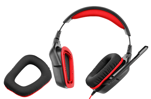 Logitech Headset 981-000541 G230 Stereo Gaming Headset Over-the-Ear Bare Red